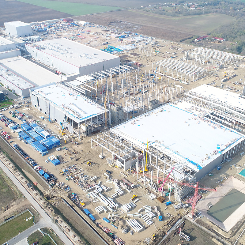 The new battery factory in Komárom is under construction: TSPC is the General Designer for the interior